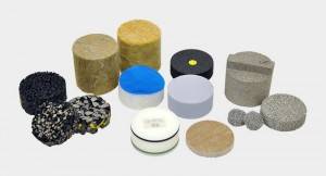 potential sound absorbers, materials with open porosity