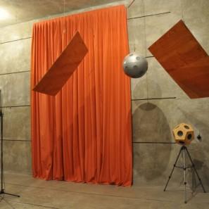 Messung der Schallabsorption von akustischem Vorhang für diffusen Schalleinfall im Hallraum nach DIN EN ISO 354, Bestimmung von bewertetem Schallabsorptionsgrad