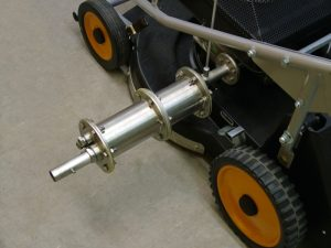 measurement of sound power at lawn mower with exhaust silencer