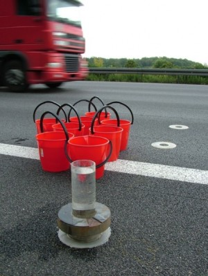 measurement of water permeability of open porous road surface in situ