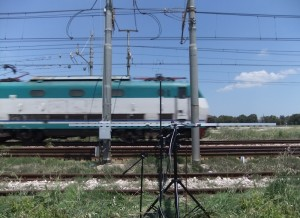 Measurement of noise emission of rail vehicles according to DIN EN ISO 3095
