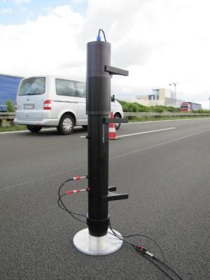 Messung von Schallabsorptionsgrad auf Fahrbahnoberfläche mit Impedanzrohr in situ