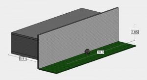 Berechnung der Schalldämmung einer Fassade nach DIN EN 12354-3