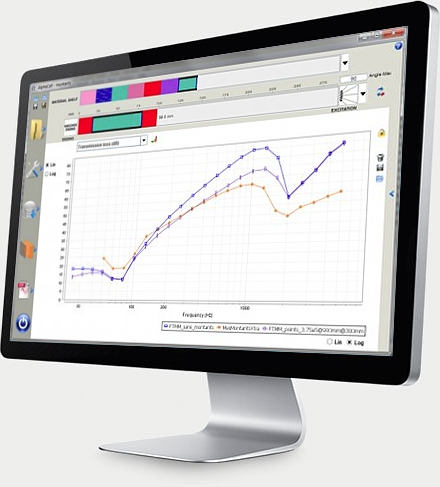 software AlphaCell for vibro-acoustic evaluation of multi-layer systems