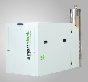 Active Silencer for Cogeneration Units - ANC - Cogeneration unit (BHKW) with silencer system in the exhaust section