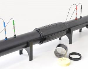 Probenhalter zur Messung von Schallabsorptionsgrad und Schalldämmung von Prüfkörpern mit Kompression