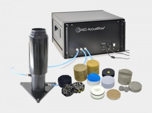 Airflow resistivity meter AED 300 - AcoustiFlow<sup>®</sup> for measurement of airflow resistance of open-cell materials