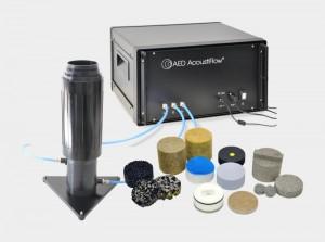 Strömungswiderstandsmessgerät AED 300 - AcoustiFlow<sup>®</sup> zur messtechnischen Bestimmung des Strömungswiderstands von offenporigen Materialien