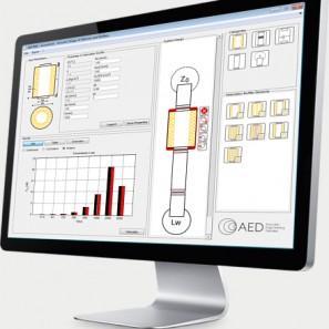Schalldämpfer-Software AED 8001 - AcoustiCalc® Silencer zur Auslegung von Schalldämpfern