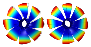 Structural analysis of fan by numerical modeling of vibrational behaviour as well as calculation of natural frequencies