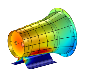 Structural analysis of gear drive by numerical modeling of vibrational behaviour as well as calculation of natural frequencies