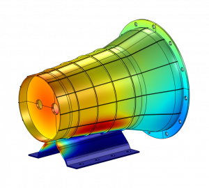 Structural analysis of single components and assembly groups by numerical modeling of vibrational behaviour, propagation of structure-borne sound as well as calculation of natural frequencies