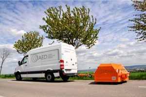 New CPX trailer of Gesellschaft für Akustikforschung Dresden mbH for measurement of tire/road noise according to ISO/DIS 11819-2, trailer for CPX measurement of tire/road noise, close proximity method